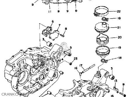 Yamaha XT500 1976 DUAL PURPOSE USA parts lists and schematics
