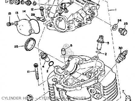 Yamaha XT500 1976 DUAL PURPOSE USA parts lists and schematics