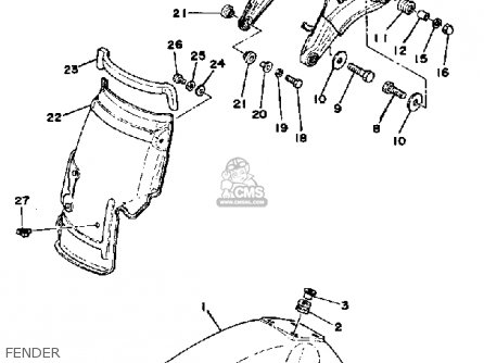 Yamaha XT500 1978 DUAL PURPOSE USA parts lists and schematics