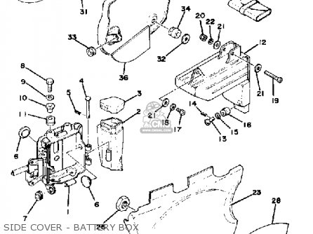 Yamaha XT500 1978 USA FROM #205001 parts lists and schematics