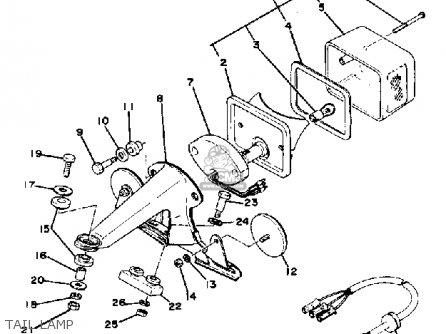 Yamaha Xt500 1978 Usa From #205001 parts list partsmanual
