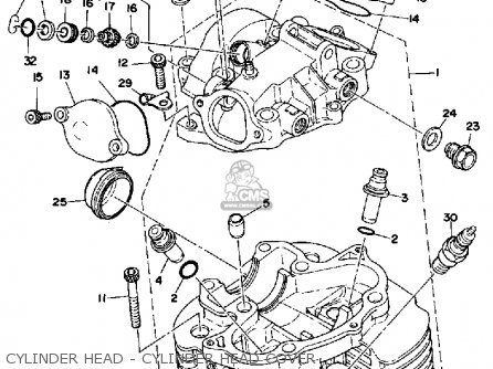 Yamaha Xt500 1979 Usa Canada parts list partsmanual partsfiche
