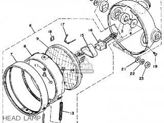 Yamaha Xt500 1979 Usa Canada parts list partsmanual partsfiche