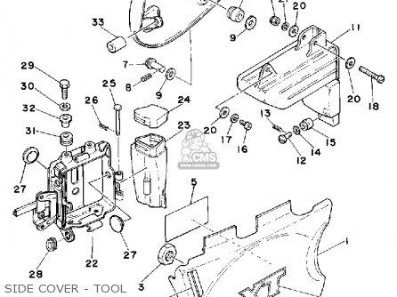 Yamaha XT500 1981 DUAL PURPOSE USA parts lists and schematics