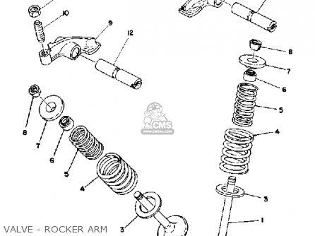 Yamaha Xt500c Dual Purpose 1976 parts list partsmanual