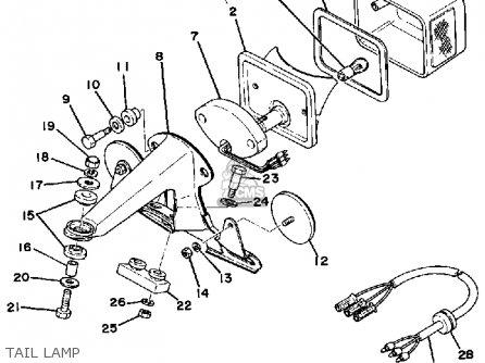 Yamaha Xt500d Dual Purpose 1977 parts list partsmanual