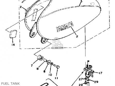 Yamaha Xt500e ~205001 1978 parts list partsmanual partsfiche