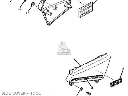 Yamaha Xt550 Dual Purpose 1983 (d) Usa parts list