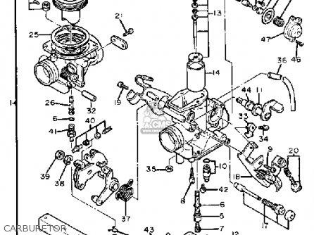 Yamaha Xt550k Dual Purpose 1983 parts list partsmanual