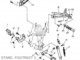 Yamaha XT600 1987 2KF FRANCE 272KF-351F2 parts lists and