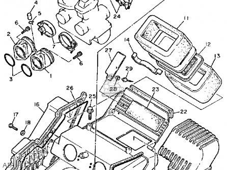 Yamaha Xt600 Dual Purpose 1984 (e) Usa parts list