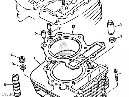 Yamaha XT600 DUAL PURPOSE 1985 (F) USA parts lists and