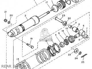 Yamaha Xt600 Dual Purpose 1986 (g) Usa parts list