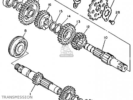 Yamaha XT600 DUAL PURPOSE 1987 (H) USA parts lists and