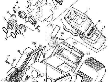 Yamaha Xt600 Dual Purpose 1989 (k) Usa parts list