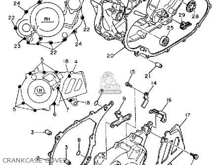 Yamaha XT600 DUAL PURPOSE 1989 (K) USA parts lists and