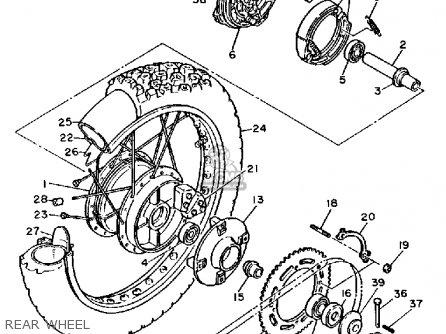 Yamaha Xt600c Dual Purpose 1987 (h) California parts list