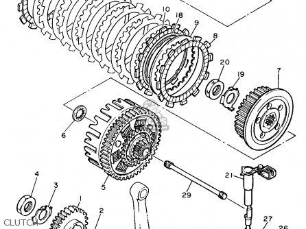 Yamaha XT600E 1990 (L) USA parts lists and schematics