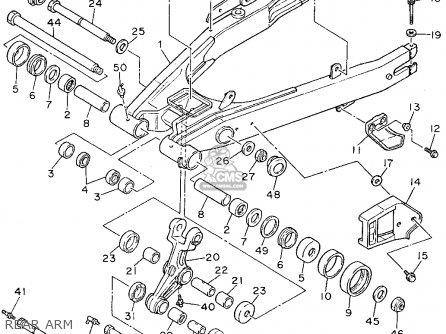 Yamaha Xt600e 1995 (s) Usa parts list partsmanual partsfiche