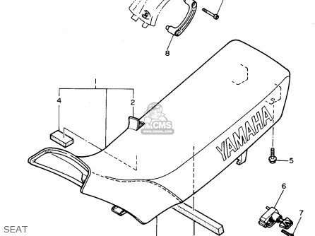 Yamaha Xt600ec 1993 (p) California parts list partsmanual