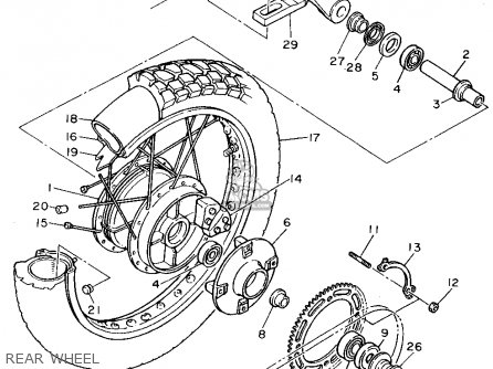 Yamaha Xt600ef (3uyb) 1994 parts list partsmanual partsfiche