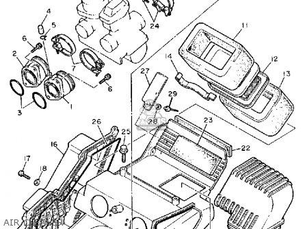 Yamaha Xt600s Dual Purpose 1986 parts list partsmanual