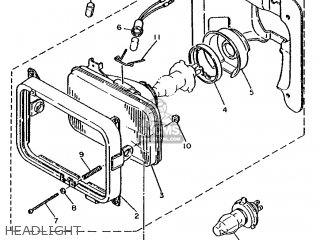 Yamaha XT600Z 1986 1VJ EUROPE 261VJ-300E1 parts lists and