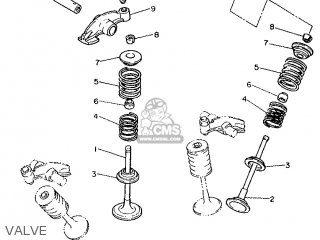 Yamaha Xv1000 1986 2ae England 262ae-310e1 parts list