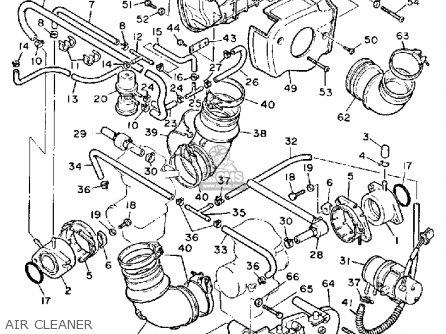 Yamaha Xv1000 Virago 1984 (e) Usa parts list partsmanual