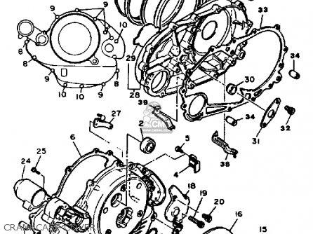 Yamaha XV1000 VIRAGO 1984 (E) USA parts lists and schematics