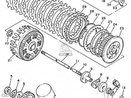 Yamaha XV1000 VIRAGO 1985 (F) USA parts lists and schematics