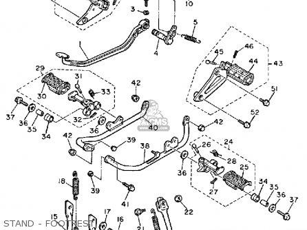 Yamaha Xv1000 Virago 1985 (f) Usa parts list partsmanual
