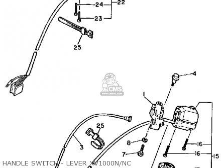 Yamaha Xv1000n Virago 1984/1985 parts list partsmanual