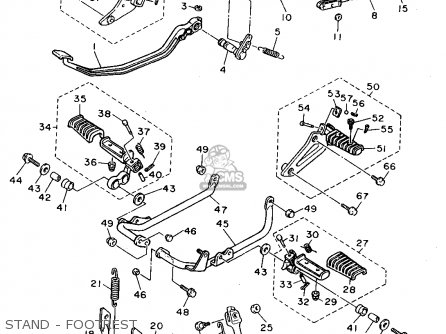 Yamaha Xv1100 1995 (s) Usa parts list partsmanual partsfiche