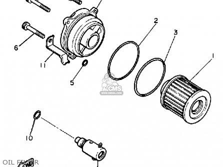 Yamaha Xv1100 Virago 1986 (g) Usa parts list partsmanual