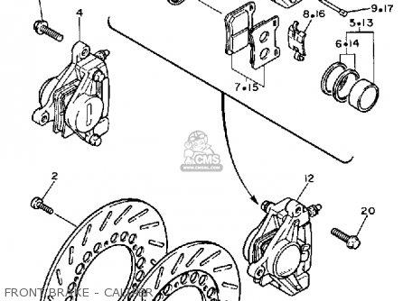 Yamaha XV1100 VIRAGO 1987 (H) USA parts lists and schematics