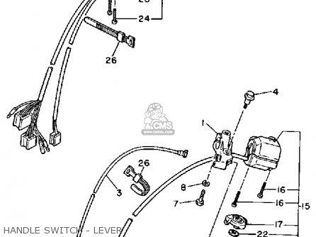 Yamaha Xv1100 Virago 1987 (h) Usa parts list partsmanual