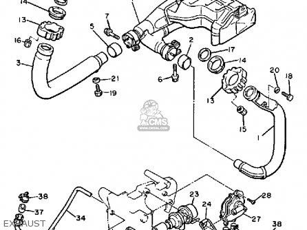Yamaha Xv1100 Virago 1988 (j) Usa parts list partsmanual