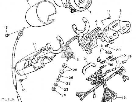 Yamaha Xv1100 Virago 1989 (k) Usa parts list partsmanual