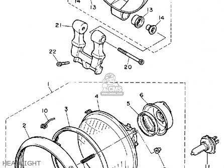 Yamaha XV1100 VIRAGO 1990 (L) USA parts lists and schematics