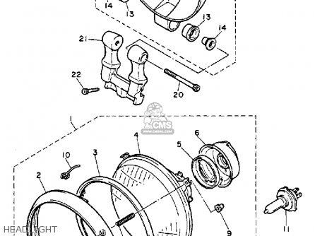 Yamaha Xv1100 Virago 1993 (p) Usa parts list partsmanual