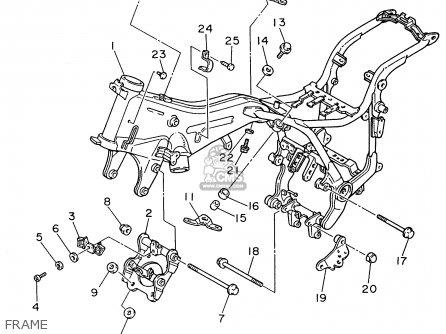 Yamaha Xv1100 Xv1100c Virago 1996 (t) Usa California parts
