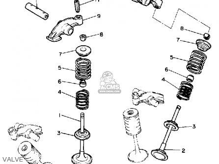 Yamaha Xv1100b Virago 1991 parts list partsmanual partsfiche