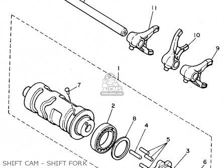 Yamaha Xv1100c 1995 (s) California parts list partsmanual