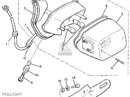 Yamaha Xv1100c Virago 1988 (j) California parts list