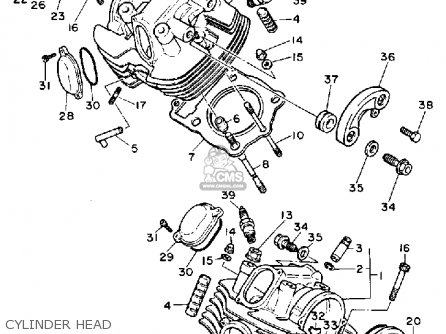 Yamaha Xv1100c Virago 1989 (k) California parts list