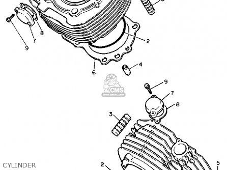 Yamaha XV1100C VIRAGO 1990 (L) CALIFORNIA parts lists and