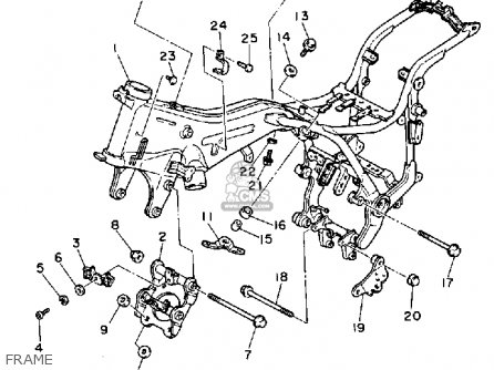 Yamaha XV1100C VIRAGO 1991 (M) CALIFORNIA parts lists and