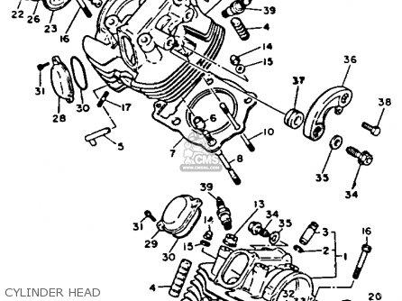 Yamaha Xv1100c Virago 1992 (n) California parts list