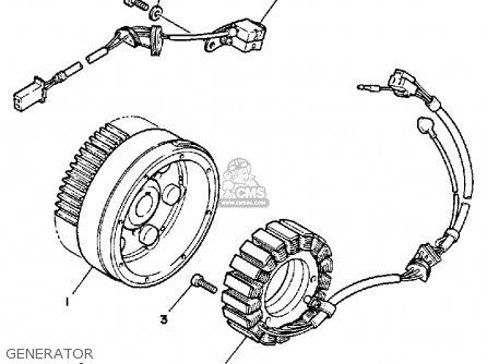Yamaha XV1100C VIRAGO 1993 (P) CALIFORNIA parts lists and
